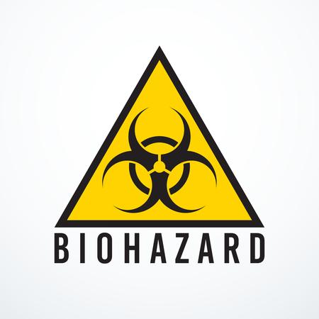 Vector biohazard sign on white background, vector illustration.