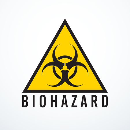 biohazard sign: Vector biohazard sign on white background, vector illustration.