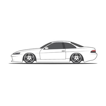 Vector sport car. Car sketch, vector illustration. Illustration