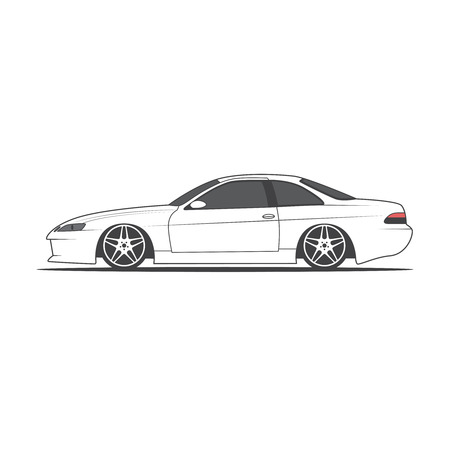 Vector sport car. Car sketch, vector illustration. Illusztráció