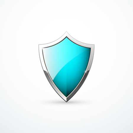 Vector turquoise shield icon