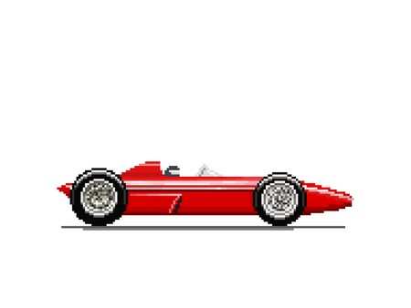 Pixel old race car