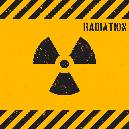 Vector grunge radiation background
