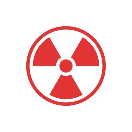 Ein Vektor Strahlung Zeichen auf einfachen Hintergrund isoliert