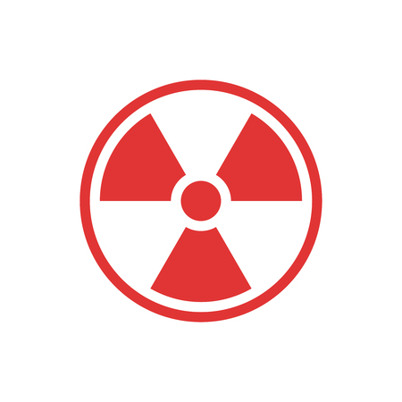 A Vector radiation sign isolated on plain background
