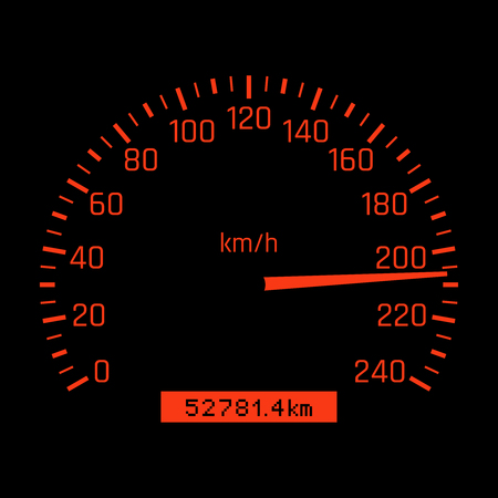 Car speedometer dial, High speed concept illustration.