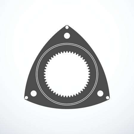 Rotor of rotary Wankel engine. Vector illustration Illustration
