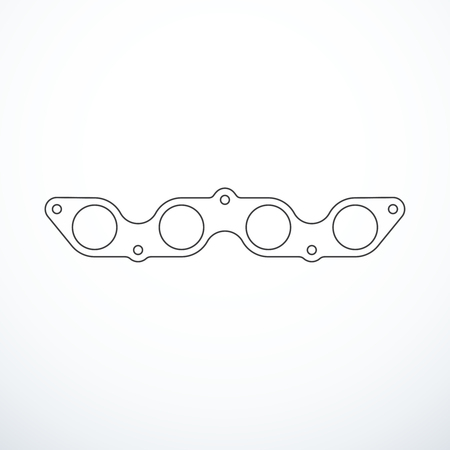 Vector exhaust of gasket isolated on white background.