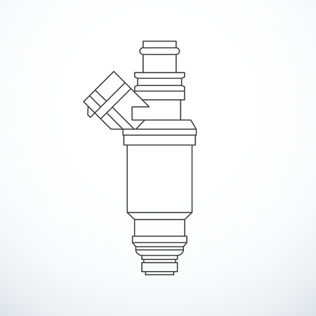 Vector fuel injector isolated