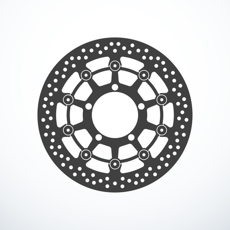 Vector motorcycle brake disc isolated vector illustration
