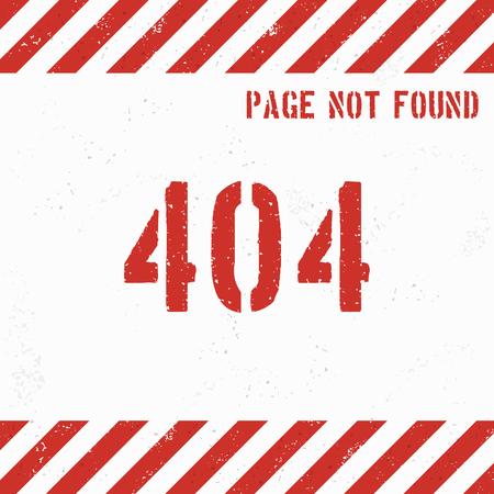 404 error page grunge background. Vector illustration