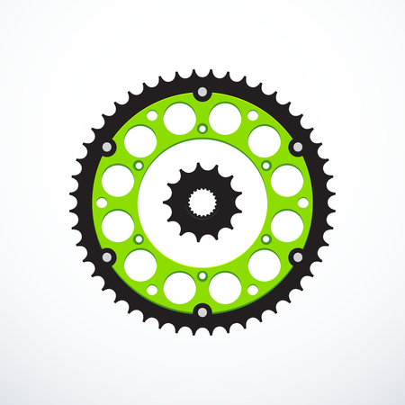 Set of motorcycle sprockets. Vector illustration