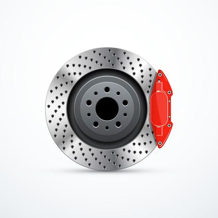 Disque de frein vectoriel avec étrier. Freins de voiture