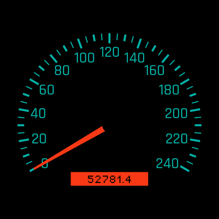 Car speedometer dial. Vector illustration