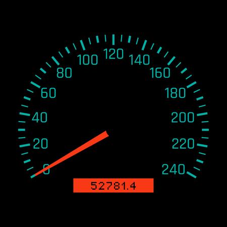 Car speedometer dial. Vector illustration