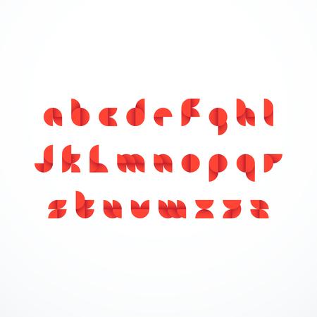 Abstract latin alphabet. Vector illustration
