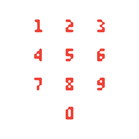 Set of number icons. 0-9 pixel numbers. Vector illustration