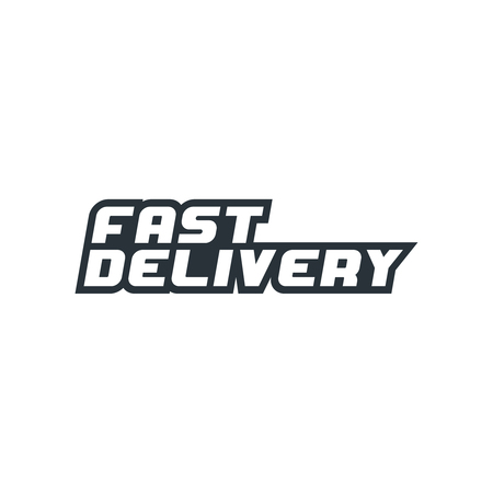 Fast delivery icon. Vector illustration