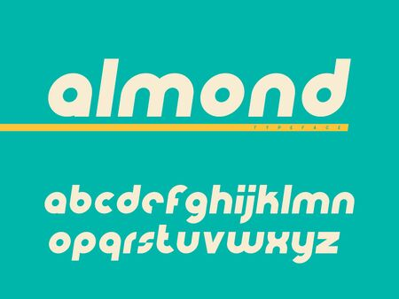 Rounded lowercase font. Latin alphabet letters.
