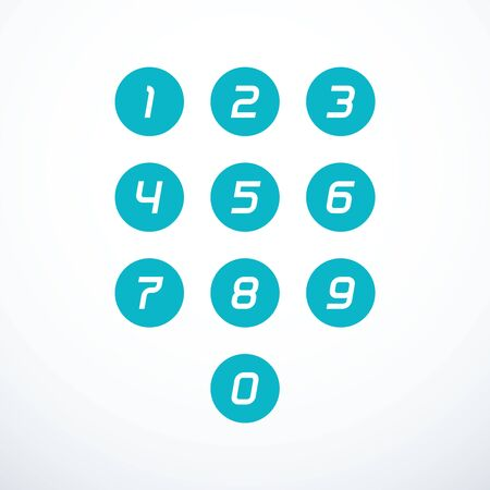 Set of 0-9 number icons.