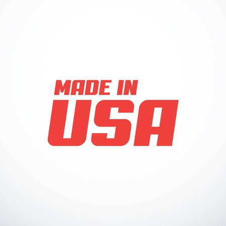 Made in USA badge. Vector illustration