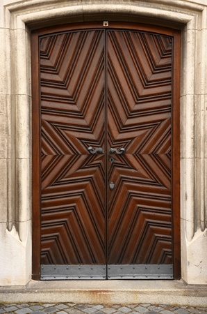 Historic wooden doors photo
