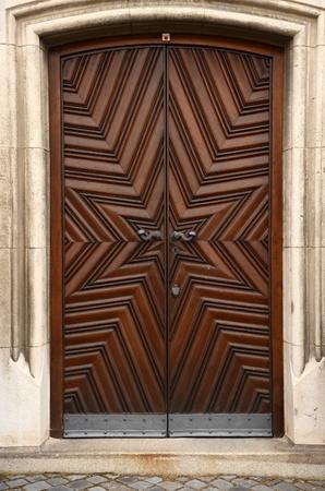 Historic wooden doors photo