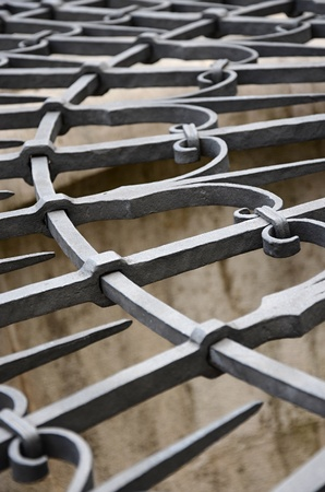 Metal grille detail photo