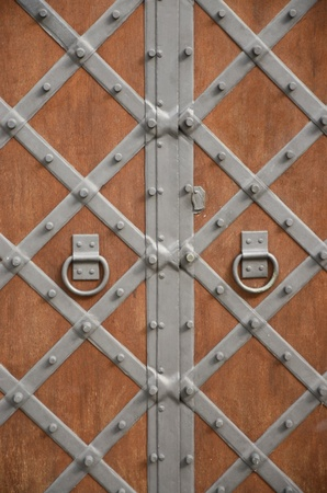 Detail of wooden historic doors Stock Photo - 13688789