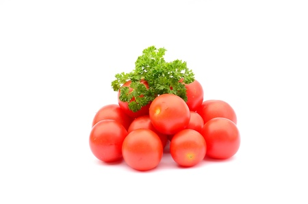 Cherry tomatoes with parsley