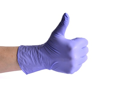 proctologist: Doctor giving Ok sign