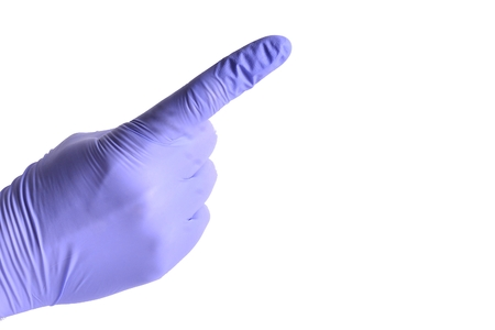 proctologist: Finger in gloves