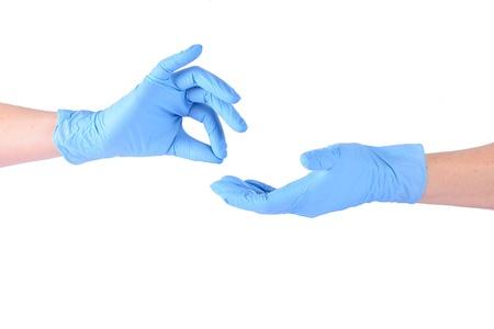 proctologist: Gesture hands