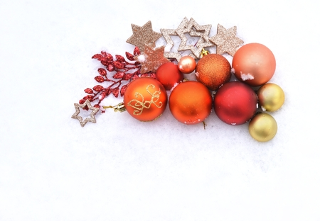 Christmas cards with balls