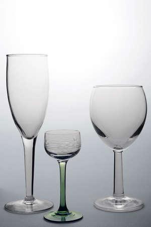 3 つのワイングラス 写真素材
