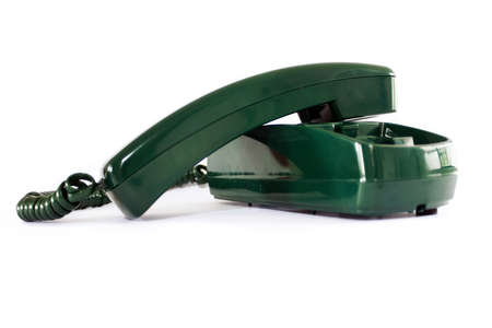 old green telephone Stock Photo - 7810687