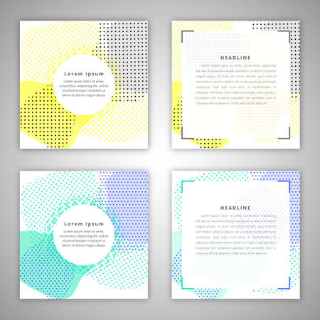 broshure: Set of Vector broshure front and back side templates in abstract style. Illustration