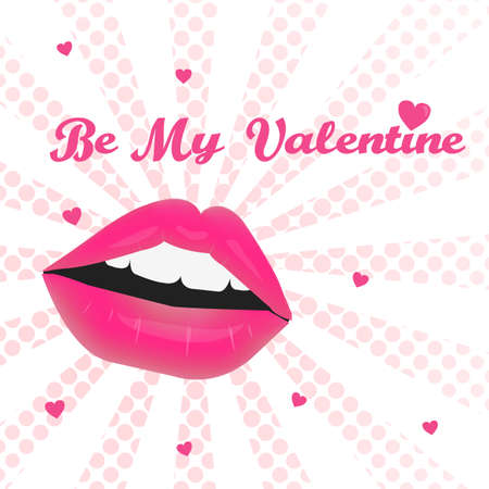 Valentines day greeting card . Be my Valentine.