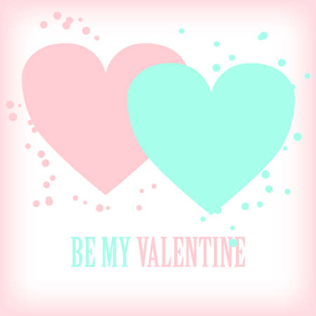 be: Valentines day greeting card. Be my Valentine.