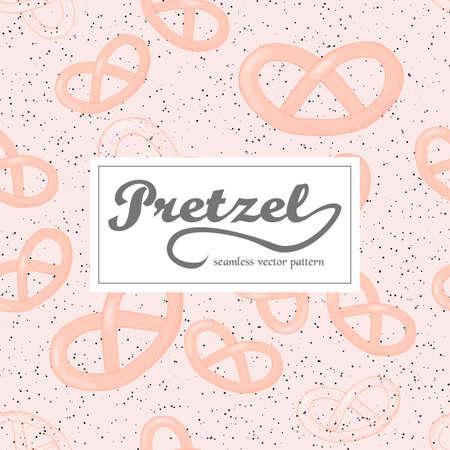 bretzel: Vector illustration seamless pattern woth hand drawn pretzels.