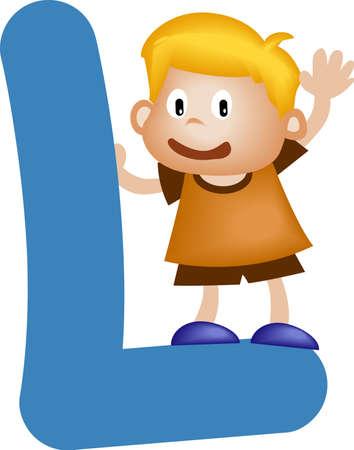 comunicación escrita: Alfabeto Boy con la letra L