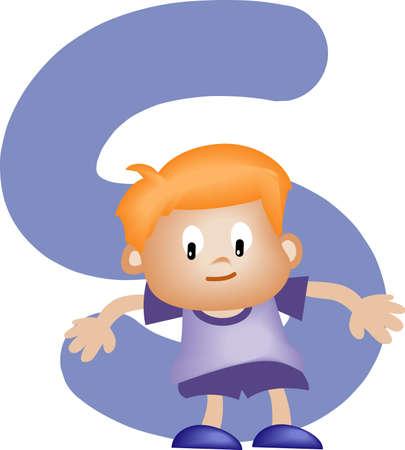 written communication: Boy with Alphabet letter S
