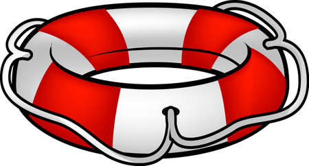 An isolated illustration of lifebuoy