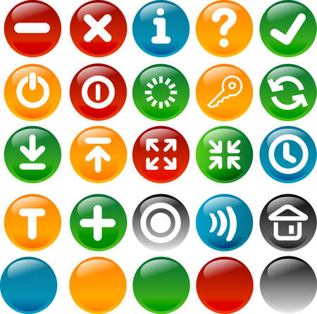 Up to 20 various icons and 5 circle button for your web and application