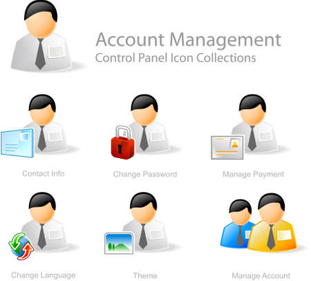 lösenord: Account Management - Control Panel icon for web design Stockfoto
