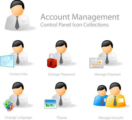 tablero de control: Administraci�n de cuentas - Panel de control icono de dise�o web