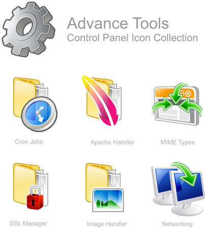 Advance Tools - Control Panel icon for web design
