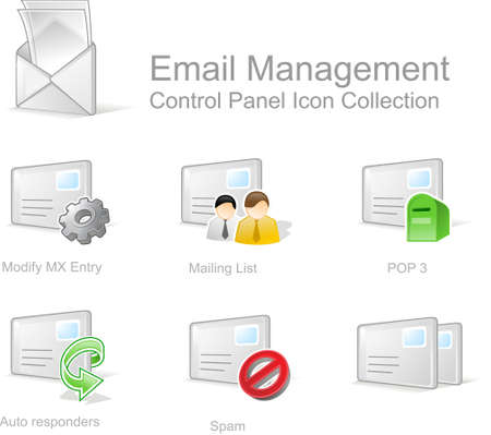 modify: Email  Management 1- Control Panel icon for web design
