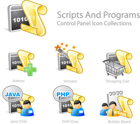 abstractly: Scripts & programs 2 - Control Panel icon for web design Stock Photo