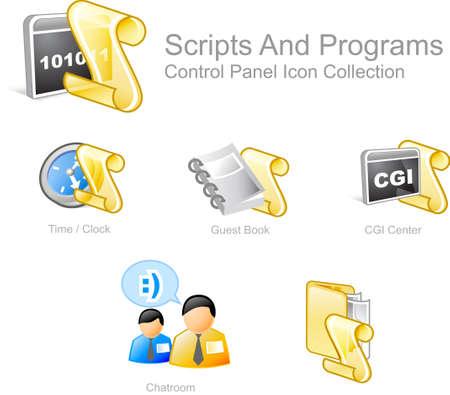 Scripts & programs 1- Control Panel icon for web design photo